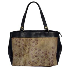 Parchment Paper Old Leaves Leaf Office Handbags by Nexatart