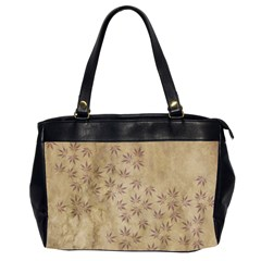Parchment Paper Old Leaves Leaf Office Handbags (2 Sides)  by Nexatart