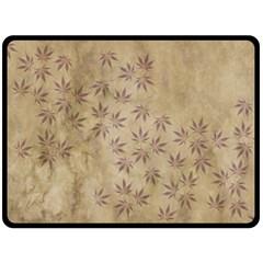 Parchment Paper Old Leaves Leaf Fleece Blanket (large)  by Nexatart