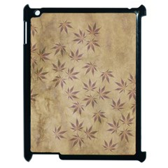 Parchment Paper Old Leaves Leaf Apple Ipad 2 Case (black) by Nexatart
