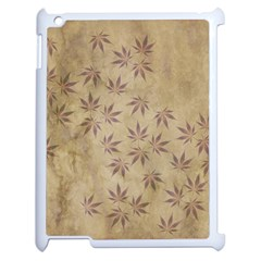 Parchment Paper Old Leaves Leaf Apple Ipad 2 Case (white) by Nexatart