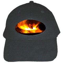 Fire Rays Mystical Burn Atmosphere Black Cap by Nexatart