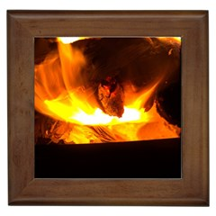 Fire Rays Mystical Burn Atmosphere Framed Tiles by Nexatart