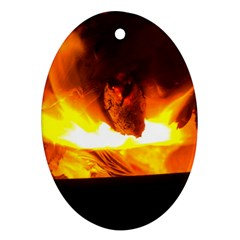 Fire Rays Mystical Burn Atmosphere Ornament (oval) by Nexatart