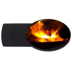 Fire Rays Mystical Burn Atmosphere Usb Flash Drive Oval (2 Gb) by Nexatart