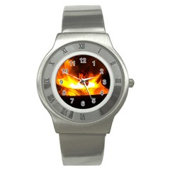 Fire Rays Mystical Burn Atmosphere Stainless Steel Watch by Nexatart