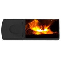 Fire Rays Mystical Burn Atmosphere Usb Flash Drive Rectangular (4 Gb) by Nexatart