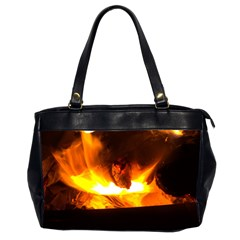 Fire Rays Mystical Burn Atmosphere Office Handbags (2 Sides)  by Nexatart
