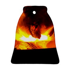 Fire Rays Mystical Burn Atmosphere Ornament (bell) by Nexatart