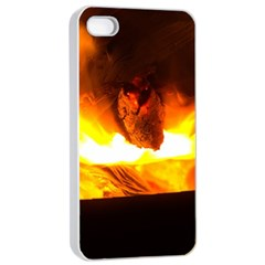 Fire Rays Mystical Burn Atmosphere Apple Iphone 4/4s Seamless Case (white) by Nexatart