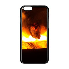 Fire Rays Mystical Burn Atmosphere Apple Iphone 6/6s Black Enamel Case by Nexatart