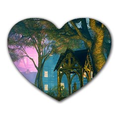 Background Forest Trees Nature Heart Mousepads by Nexatart