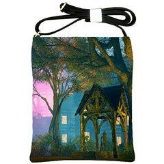 Background Forest Trees Nature Shoulder Sling Bags by Nexatart
