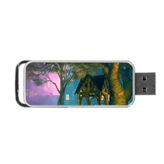 Background Forest Trees Nature Portable Usb Flash (two Sides) by Nexatart