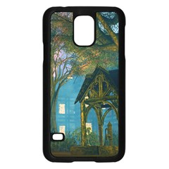 Background Forest Trees Nature Samsung Galaxy S5 Case (black) by Nexatart