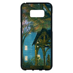 Background Forest Trees Nature Samsung Galaxy S8 Plus Black Seamless Case