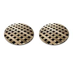 Texture Wood Flooring Brown Macro Cufflinks (oval) by Nexatart
