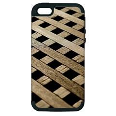 Texture Wood Flooring Brown Macro Apple Iphone 5 Hardshell Case (pc+silicone) by Nexatart