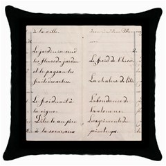 German French Lecture Writing Throw Pillow Case (black) by Nexatart