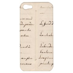 German French Lecture Writing Apple Iphone 5 Hardshell Case by Nexatart