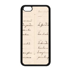 German French Lecture Writing Apple Iphone 5c Seamless Case (black) by Nexatart