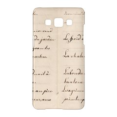 German French Lecture Writing Samsung Galaxy A5 Hardshell Case  by Nexatart