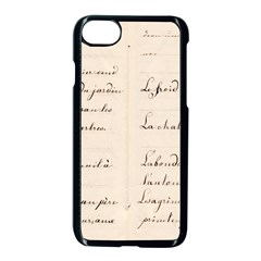 German French Lecture Writing Apple Iphone 7 Seamless Case (black) by Nexatart