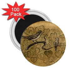 Birds Figure Old Brown 2 25  Magnets (100 Pack)  by Nexatart