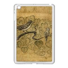 Birds Figure Old Brown Apple Ipad Mini Case (white) by Nexatart