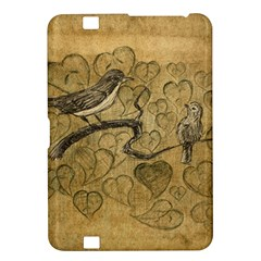 Birds Figure Old Brown Kindle Fire Hd 8 9  by Nexatart