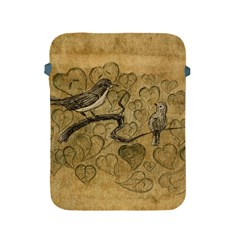 Birds Figure Old Brown Apple Ipad 2/3/4 Protective Soft Cases by Nexatart