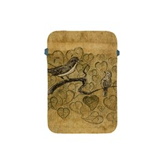 Birds Figure Old Brown Apple Ipad Mini Protective Soft Cases by Nexatart