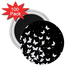 Butterfly Pattern 2 25  Magnets (100 Pack)  by Valentinaart