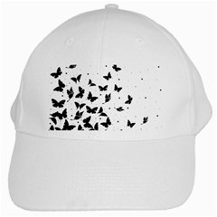Butterfly Pattern White Cap by Valentinaart