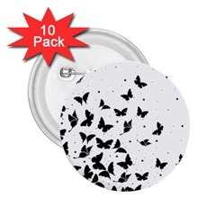 Butterfly Pattern 2 25  Buttons (10 Pack)  by Valentinaart