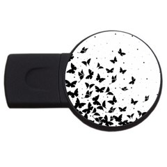 Butterfly Pattern Usb Flash Drive Round (2 Gb) by Valentinaart