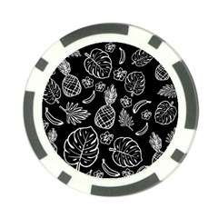 Tropical Pattern Poker Chip Card Guard by Valentinaart