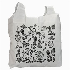 Tropical Pattern Recycle Bag (one Side) by Valentinaart