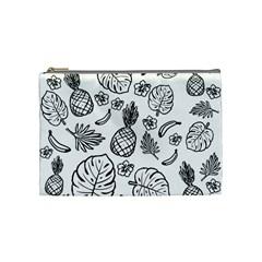 Tropical Pattern Cosmetic Bag (medium)  by Valentinaart