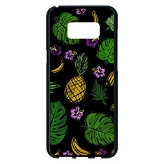 Tropical pattern Samsung Galaxy S8 Plus Black Seamless Case