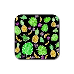 Tropical Pattern Rubber Coaster (square)  by Valentinaart