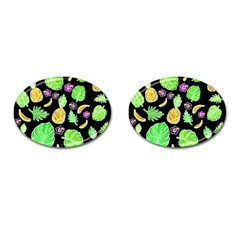 Tropical Pattern Cufflinks (oval) by Valentinaart
