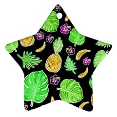 Tropical Pattern Star Ornament (two Sides) by Valentinaart