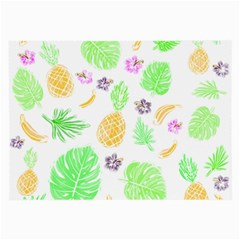 Tropical Pattern Large Glasses Cloth (2 Side) by Valentinaart