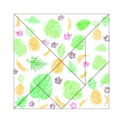 Tropical Pattern Acrylic Tangram Puzzle (6  X 6 ) by Valentinaart