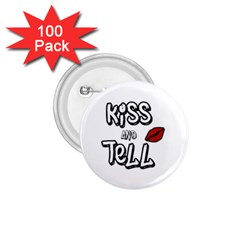 Kiss And Tell 1 75  Buttons (100 Pack)  by Valentinaart