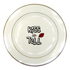 Kiss And Tell Porcelain Plates by Valentinaart