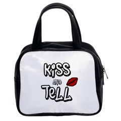 Kiss And Tell Classic Handbags (2 Sides) by Valentinaart