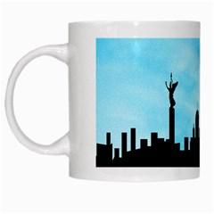 Berlin White Mugs by Valentinaart