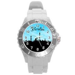 Berlin Round Plastic Sport Watch (l) by Valentinaart